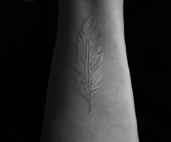 White Feather Tattoo