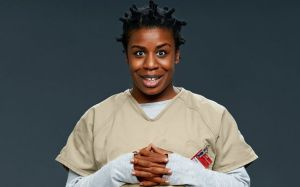Actress Uzo Aduba playing her character Suzanne aka 'Crazy Eyes'