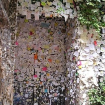Verona Italy, Love Notes Left at the Entrance for Romeo & Juliet...