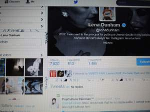 My Comment Retweeted by Lena Dunham