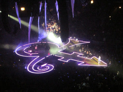 Prince's electric Love Symbol stage.