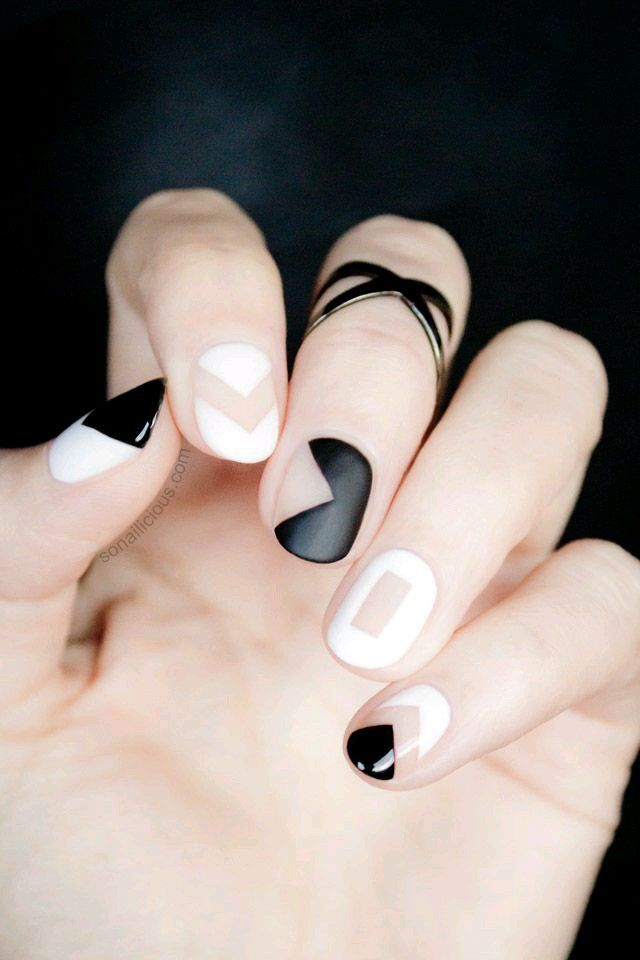 Geometric nail art the pop culture rainman mod modern geometry prinsesfo Images