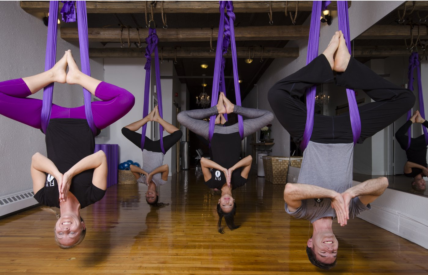 Flying High with Aerial Yoga   The Pop Culture Rainman™