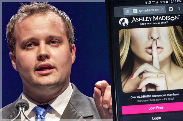 A photo illustration shows the Ashley Madison website displayed on a  smartphone in Toronto, August