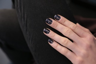 Opi Matte Navy with Negative Space