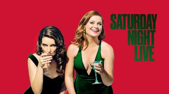 Tina Fey and Amy Poehler with Bruce Springsteen Bumpers