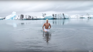The Biebs in the Glacial Icelandic Waters