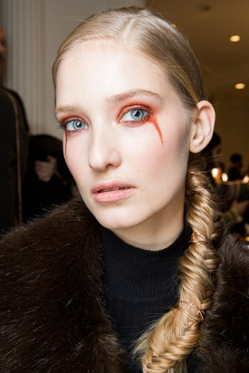 06-christian-siriano-fall-2017-orange-eyeshadow-tears